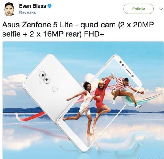 华硕ZenFone 5 Lite渲染图流出