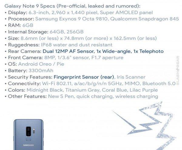 三星Note 9,三星Note 9配置,三星Note 9售价