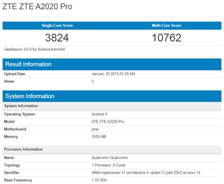 中兴Axon 10 Pro,中兴Axon 10 Pro配置,中兴Axon 10 Pro跑分
