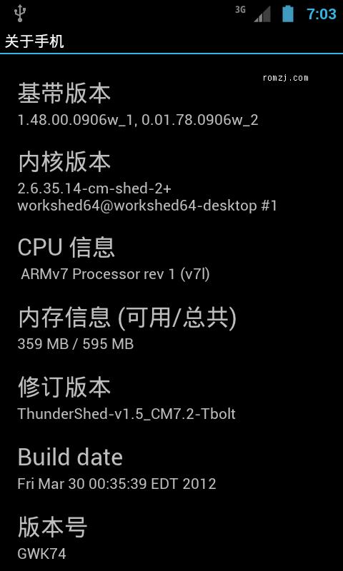 HTC Thunderbolt CM7.2 ICS风格 go桌面 彩信apn 稳定截图