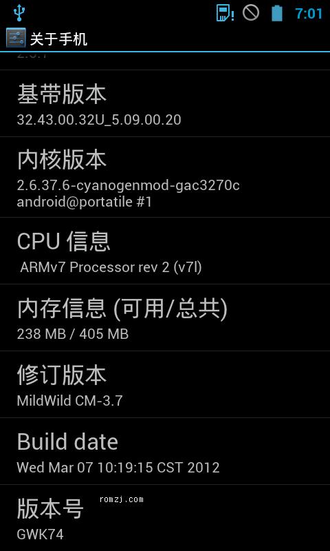 HTC Desire G7 MildWild CM5.0[6.20更新]截图