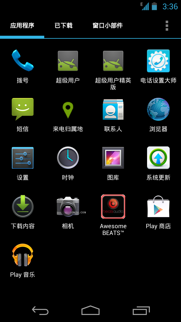 Google Galaxy Nexus XDA_L.E.R_tfz110 基于官方JBrom 精简版截图