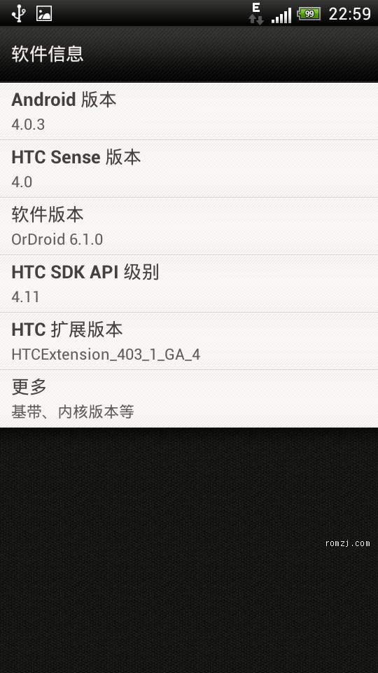 HTC Sensation 双4.0 华为手机版网盘 本地化 OrDroid 6.1.0 相机 收音截图