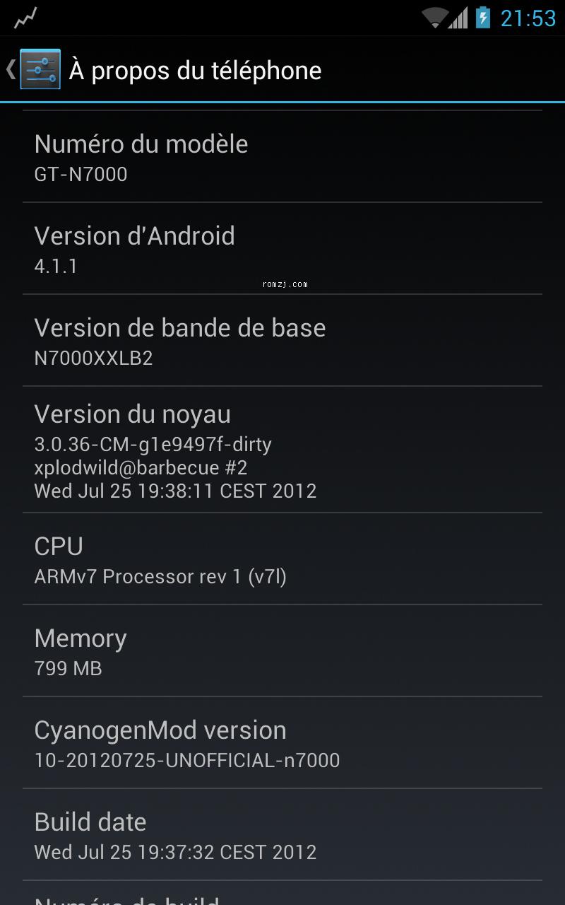 三星 Galaxy Note GT-N7000 JB 4.1.1 CM10 Official Pre截图