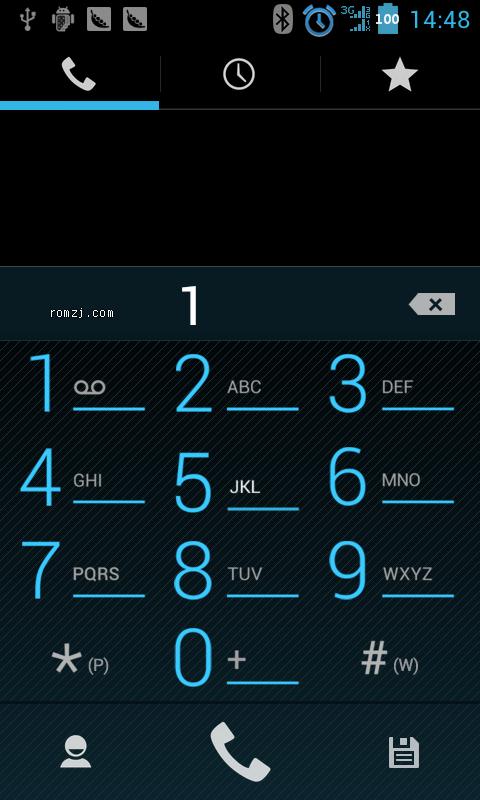 华为 C8812 官方B921简易美化B004版 数字电量 去除IP拨号截图