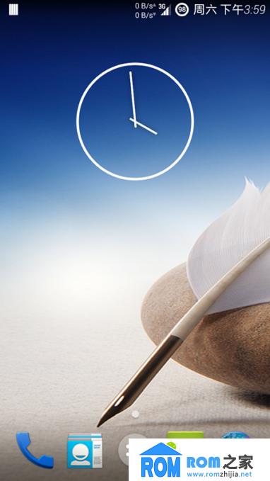 HTC ONE MINI(601E)刷机包 Carbon4.4.2 网速 来去电短信归属 完美T9 稳定截图