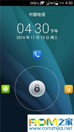 华为C8813Q刷机包 基于官方B801 EMUI3.0主题 网速开关 双击锁屏 稳定流畅截图
