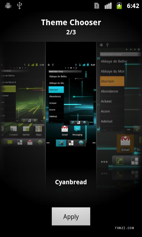 [Nightly 2012.09.23] Cyanogen 团队针对LG Optimus 3D(P930)截图