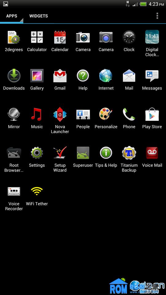 HTC 蝴蝶 ROM v2 320DPI NOVA启动器 4.1原生锁屏 优化省电 去3点黑边截图