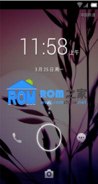 百度云ROM24 华为U8860刷机包 新增四维解锁 锁屏音乐控件截图