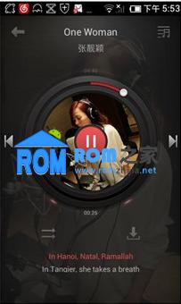 百度云ROM28公测版 华为C8813刷机包 音乐播放器全新改版 天气引入检测功能截图