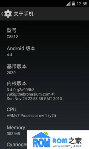 华为C8812刷机包 Android4.4 体验测试版 整体功能正常 优化 流畅截图